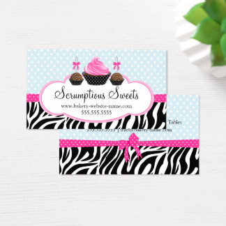 Cake Pops and Cupcake Bakery Business Cards