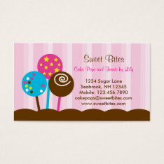 Cake Pops Bakery Business Card at Zazzle