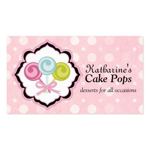 Cake Pops Bakery Business Cards (front side)