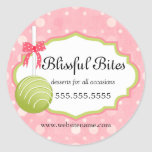 Cake Pops Bakery Business Classic Round Sticker