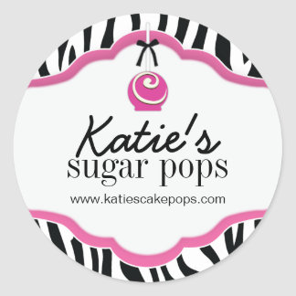 Cake Pops Bakery Packaging Stickers