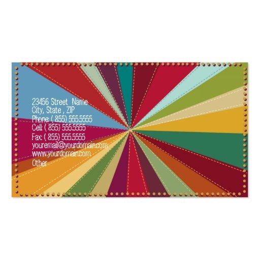 Cake Pops Bakery Retro Pop Art Business Card (back side)