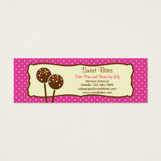 Cake Pops Bakery Tag / Business Card