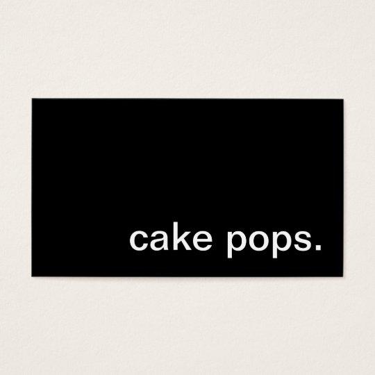 Cake Pops Business Card