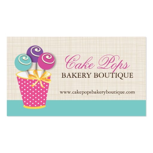 Cake pop bakery Business Card Templates Page4