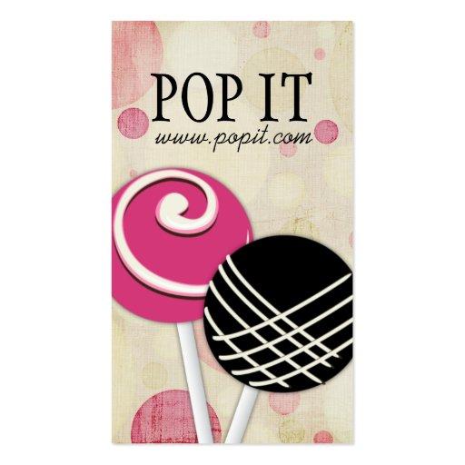 Cake Pops Business Cards (front side)