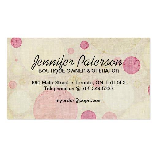 Cake Pops Business Cards (back side)
