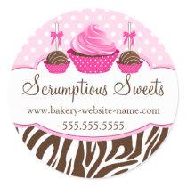 Cake Pops Cupcake Bakery Box Seals