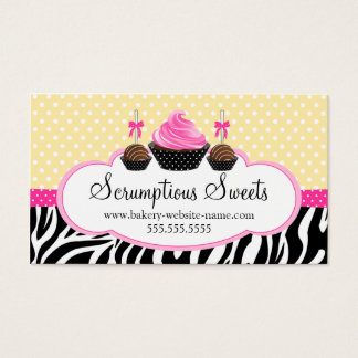 Cake Pops Cupcake Bakery Business Cards
