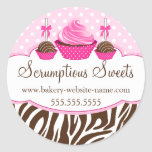Cake Pops Cupcake Bakery Stickers at Zazzle