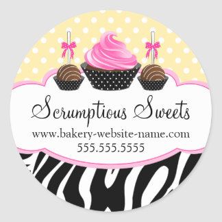 Cake Pops Cupcake Bakery Stickers