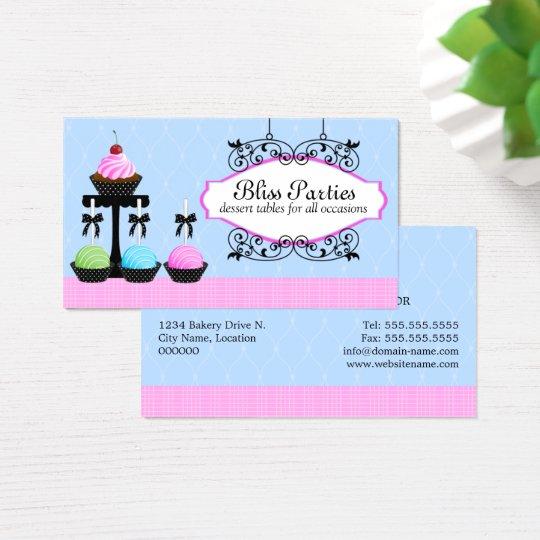 Cake Pops Cupcake Dessert Tables Business Card