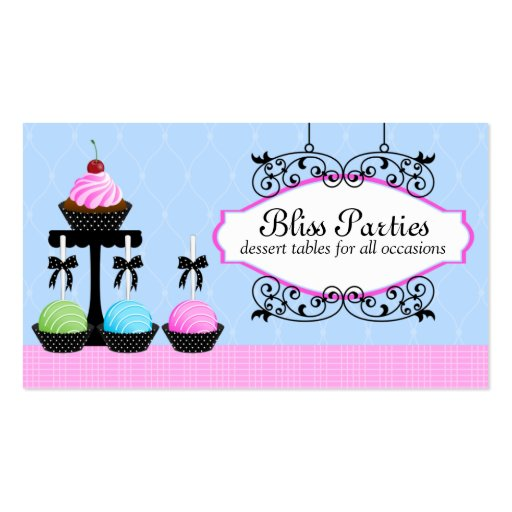 Cake Pops Cupcake Dessert Tables Business Cards