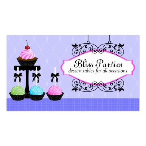 Cake Pops Dessert Tables Business Cards