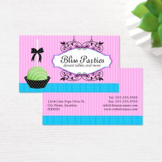 Cake Pops Desserts Bakery Business Card