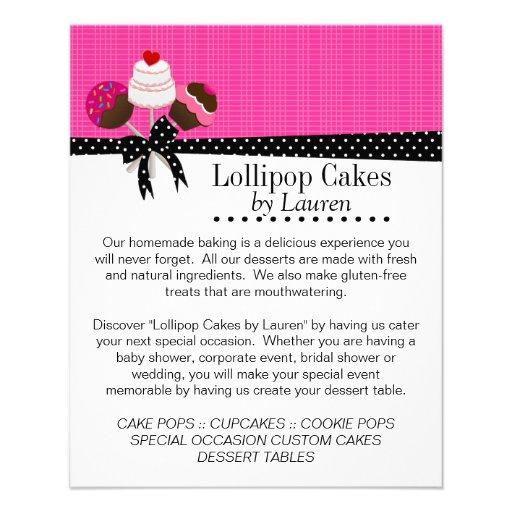 these elegant cake pops design flyers the design has three cake pops