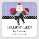 Cake Pops Lavender Stickers