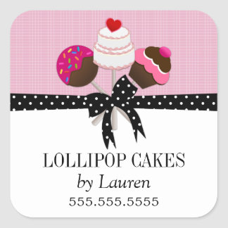 Cake Pops Pink Stickers