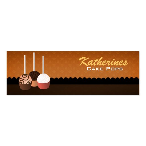 Cake Pops Skinny Business Cards Bookmarks | Zazzle