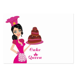 Cake Queen Large Business Card