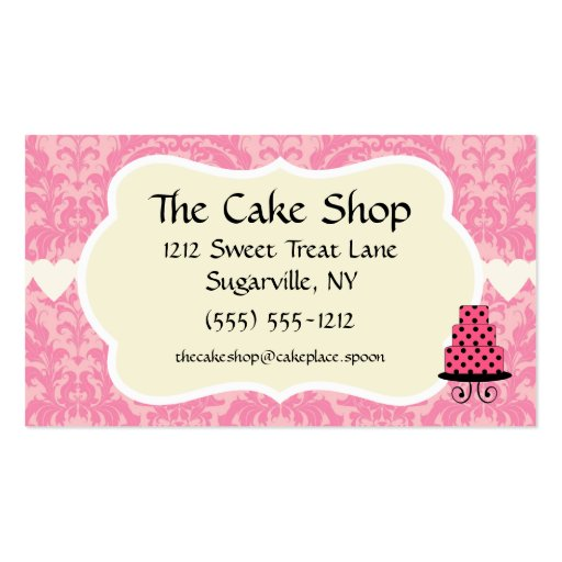 Cake Shop Baker Bakery Business Cards | Zazzle