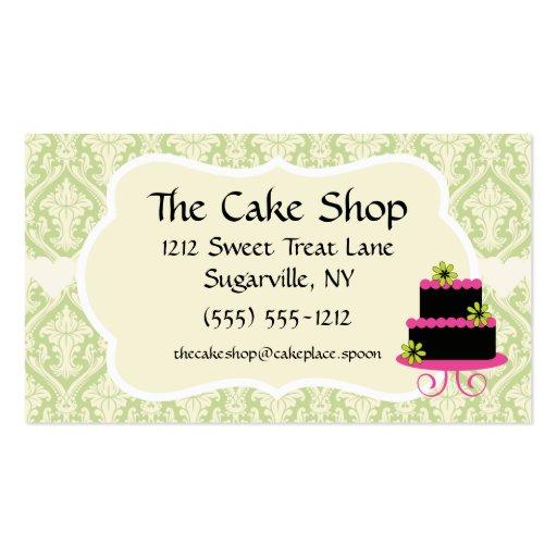Cake Shop Baker Bakery Business Cards