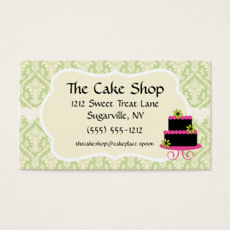 Cake Shop Baker Bakery Business Cards