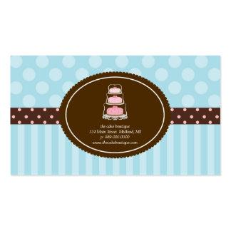Cake Shop Blue Polka Dot Stripes Business Cards