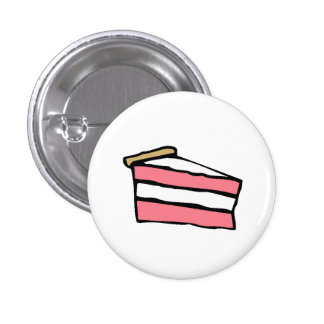 Cake Slice Pinback Button