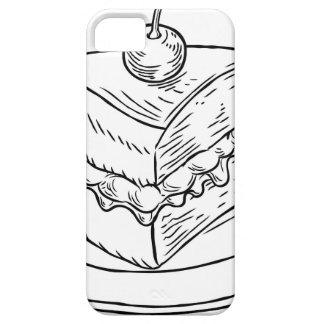 Cake Slice Vintage Retro Woodcut Style iPhone SE/5/5s Case
