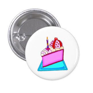 Cake Slice With Candle Pin