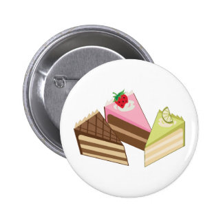 Cake Slices Pinback Buttons