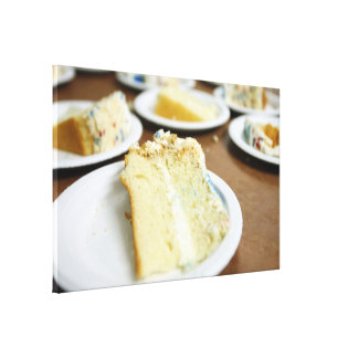 Cake Slices Stretched Canvas Prints