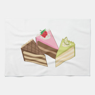 Cake Slices Hand Towel