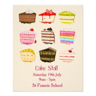 Cake Stall Bake Sale advertisement Flyer