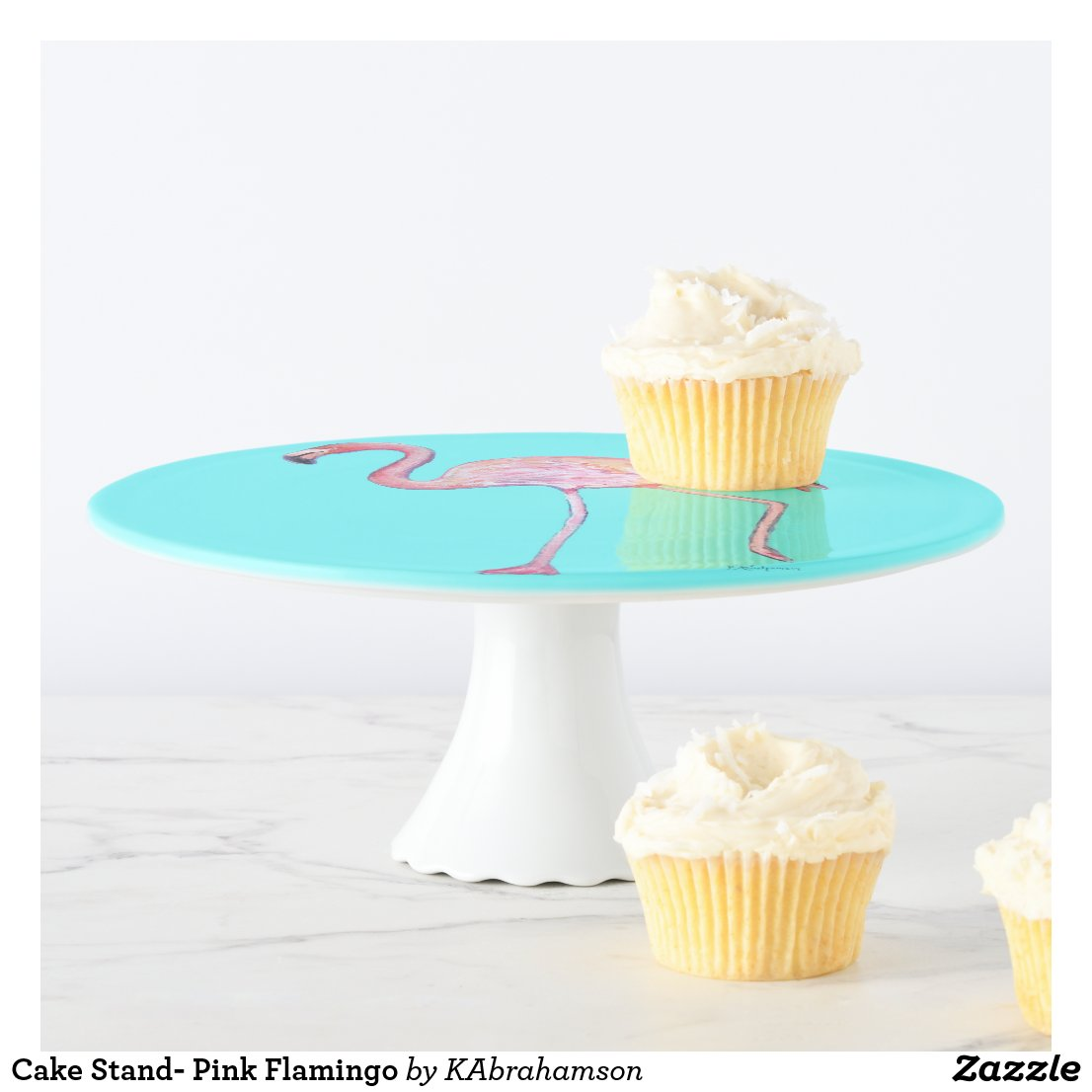 Cake Stand- Pink Flamingo Cake Stand