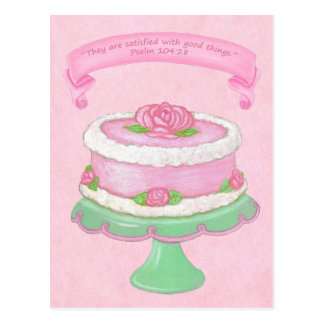 Cake Stand ~ Scripture 2 Postcard
