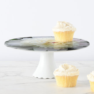 Cake Stand, White Double Peony Cake Stand