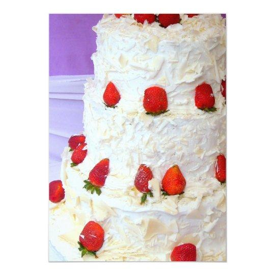 Cake strawberries invitation