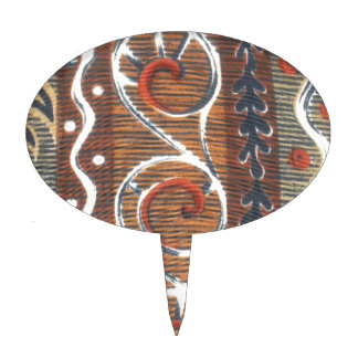 Cake Topper African Vintage Traditional Colors