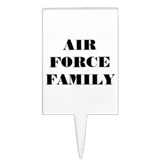 Cake Topper Air Force Family