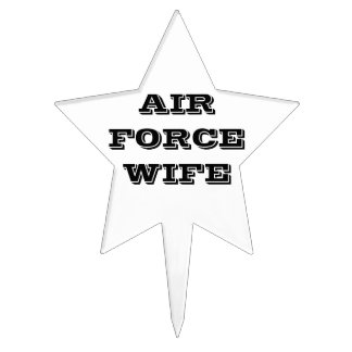 Cake Topper Air Force Wife