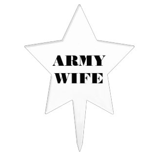 Cake Topper Army Wife
