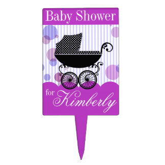 CAKE TOPPER Baby Shower Baby Carriage
