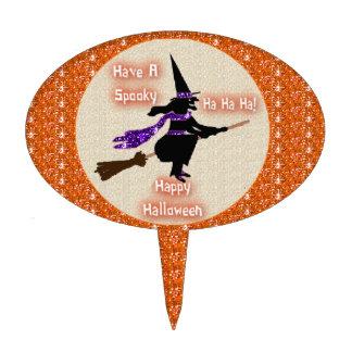 Cake Topper Broom Stick Witch
