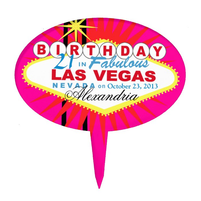 Las Vegas Birthday Cake Toppers