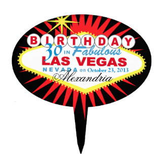 CAKE TOPPER Las Vegas 30th Birthday