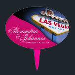 "CAKE TOPPER Las Vegas Sign<br><div class=""desc"">Las Vegas Birthday cake topper pick. Use the orange customize it button above to add your text and the background color of your choice.</div>"