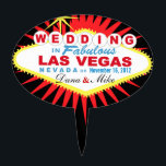"CAKE TOPPER Las Vegas Wedding Sign<br><div class=""desc"">Las Vegas Wedding cake topper pick. Use the orange customize it button above to add your text and the background color of your choice.</div>"
