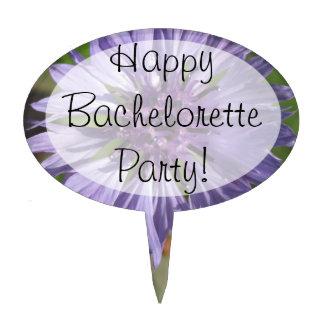 Cake Topper - Lilac/Purple Bachelor's Button